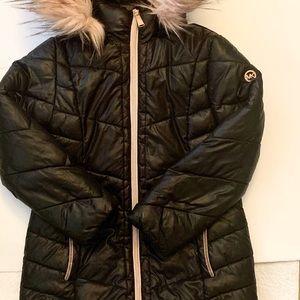 Girl MK black n blush pink Winter Jacket